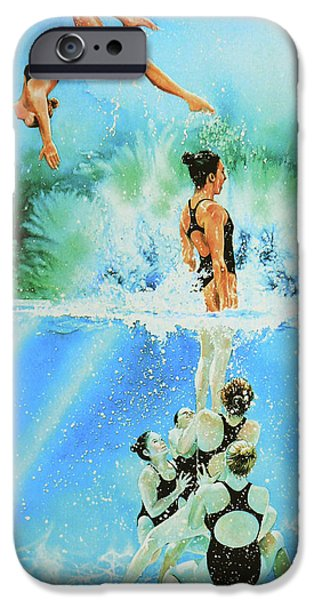 Sport Artist iPhone Cases - In Sync iPhone Case by Hanne Lore Koehler