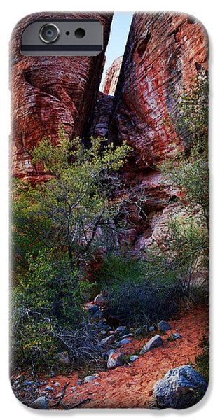 Red Photographs iPhone Cases - In The Canyon iPhone Case by Rick Berk