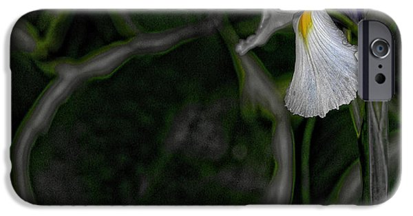 Wet Petals iPhone Cases - In the Silence iPhone Case by Bonnie Bruno