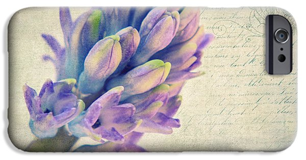 Flora Mixed Media iPhone Cases - In the spring iPhone Case by Angela Doelling AD DESIGN Photo and PhotoArt
