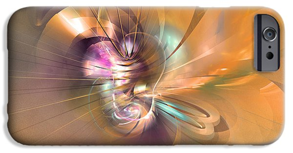 Colorful Abstract Algorithmic Contemporary iPhone Cases - In your arms iPhone Case by Sipo Liimatainen