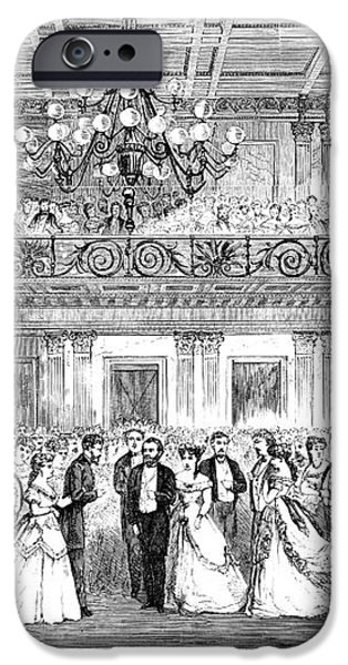 INAUGURAL BALL, 1869 iPhone Case by Granger