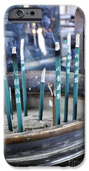 Nara iPhone Cases - Incense in Nara iPhone Case by Andy Smy