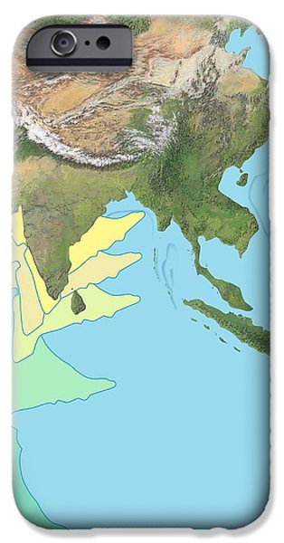 India Docking With Asia, Artwork iPhone Case by Gary Hincks