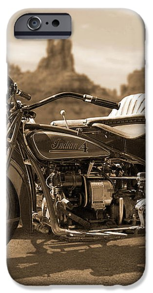 Indian 4 Sidecar iPhone Case by Mike McGlothlen