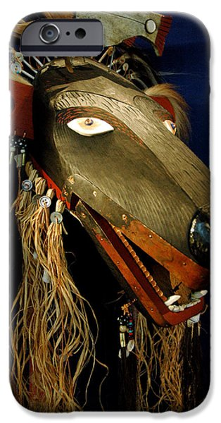 Smithsonian Museum iPhone Cases - Indian Animal Mask iPhone Case by LeeAnn McLaneGoetz McLaneGoetzStudioLLCcom