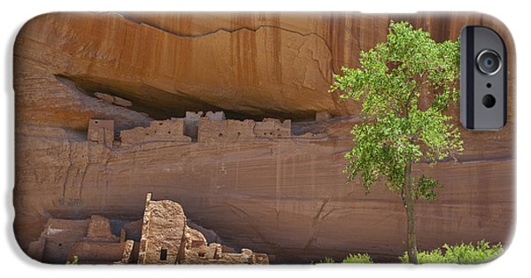 Chelly iPhone Cases - Indian Cliff Dwellings iPhone Case by Thom Gourley/Flatbread Images, LLC