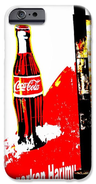 Abstract Digital Photographs iPhone Cases - Indonesian Coke Ad iPhone Case by Funkpix Photo Hunter