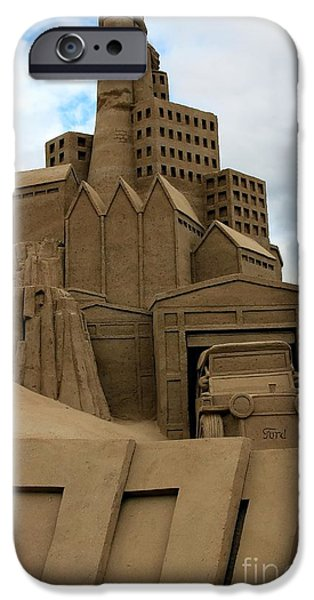 Sand Castles iPhone Cases - Industrial Era iPhone Case by Sophie Vigneault