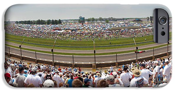 Asphalt iPhone Cases - Indy 500  Race Day iPhone Case by Semmick Photo