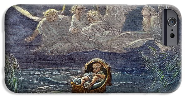 Night Angel iPhone Cases - Infant Moses On Nile iPhone Case by Granger