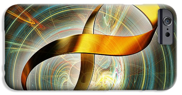 Mobius Strip iPhone Cases - Infinity Symbol And Black Hole iPhone Case by Pasieka