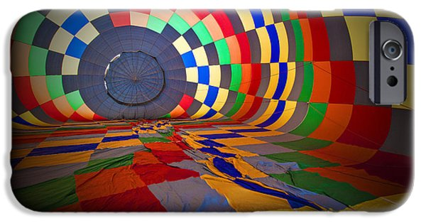 Hot Air Balloon iPhone Cases - Inflating iPhone Case by Rick Berk