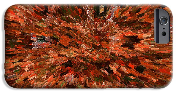 Abstract Digital Photographs iPhone Cases - Influence of Innovation iPhone Case by Carol Groenen