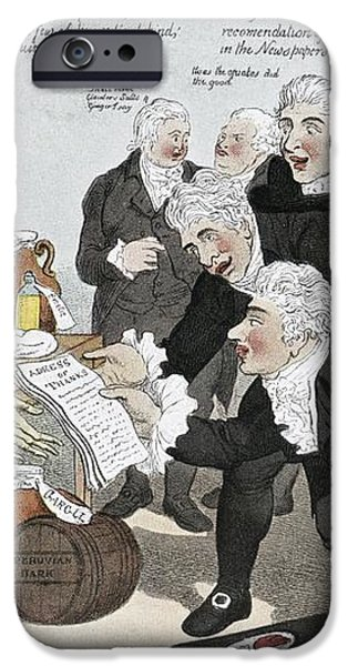 Influenza Epidemic, Satirical Artwork iPhone Case by