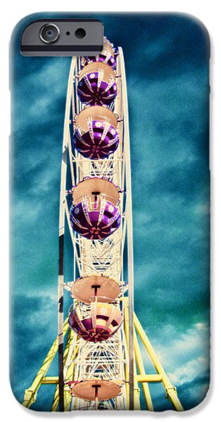 Rotate iPhone Cases - infrared Ferris wheel iPhone Case by Stylianos Kleanthous