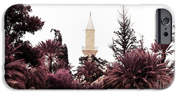 Larnaca iPhone Cases - infrared Hala Sultan Tekke iPhone Case by Stylianos Kleanthous