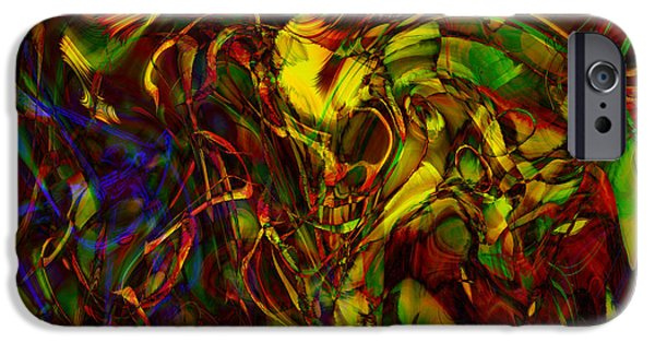 Abstract Digital iPhone Cases - Injections iPhone Case by Linda Sannuti