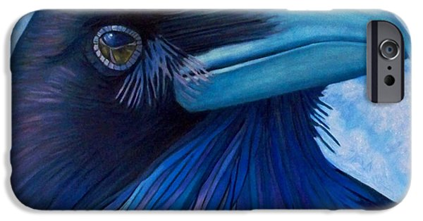 Corvid iPhone Cases - Inner Knowing iPhone Case by Brian  Commerford