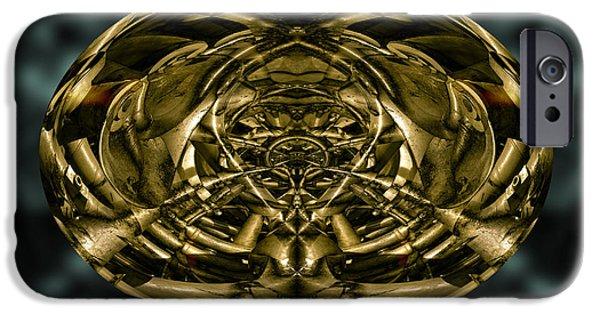 Dave Digital Art iPhone Cases - Inner World iPhone Case by David Gordon