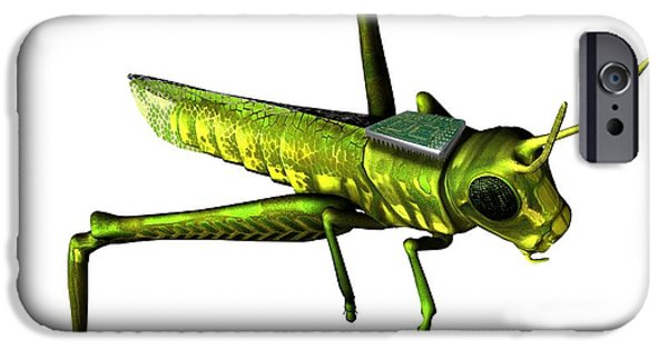 Chip iPhone Cases - Insect Spy, Conceptual Artwork iPhone Case by Victor Habbick Visions