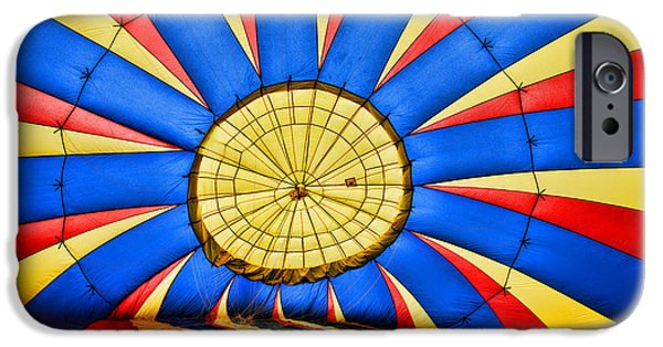 Lewiston iPhone Cases - Inside a Hot Air Balloon iPhone Case by Paul Ward