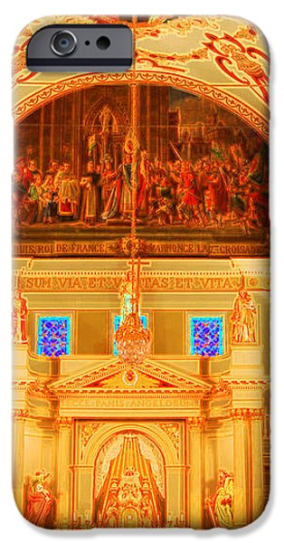 Inside St louis Cathedral Jackson Square French Quarter New Orleans Accented Edges Digital Art iPhone Case by Shawn O'Brien