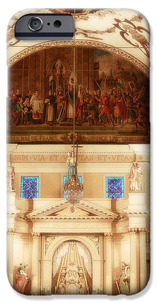 Inside St louis Cathedral Jackson Square French Quarter New Orleans Diffuse Glow Digital Art iPhone Case by Shawn O'Brien