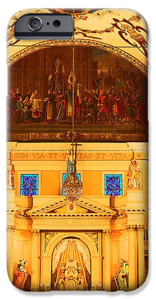 Inside St louis Cathedral Jackson Square French Quarter New Orleans Film Grain Digital Art iPhone Case by Shawn O'Brien