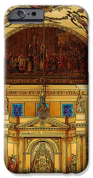 Inside St louis Cathedral Jackson Square French Quarter New Orleans Poster Edges Digital Art iPhone Case by Shawn O'Brien