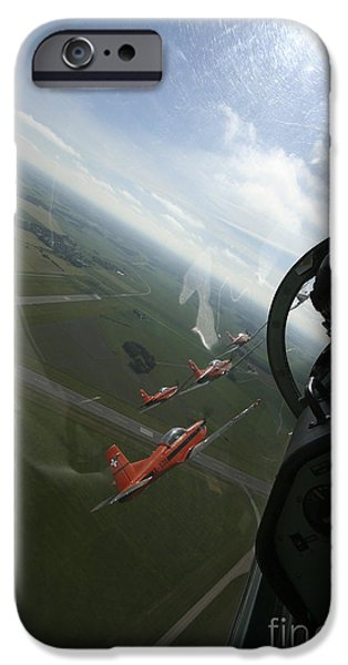 Popular iPhone Cases - Inside The Pilatus Pc-7 Turboprop iPhone Case by Daniel Karlsson