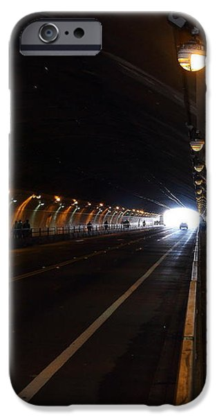 Inside The Stockton Street Tunnel in San Francisco . 7D7363.3 iPhone Case by Wingsdomain Art and Photography