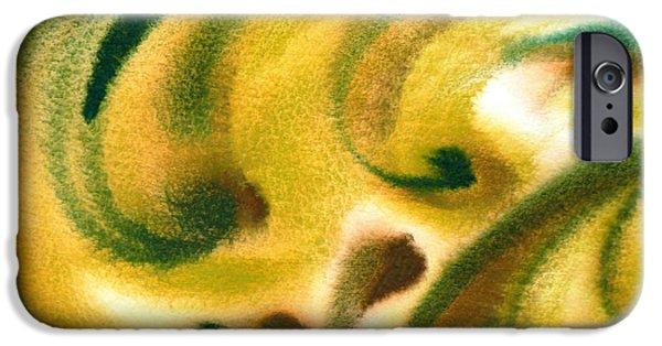 Beige Abstract iPhone Cases - Inspiration One B iPhone Case by Irina Sztukowski