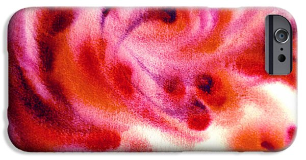 Beige Abstract iPhone Cases - Inspiration Three C iPhone Case by Irina Sztukowski