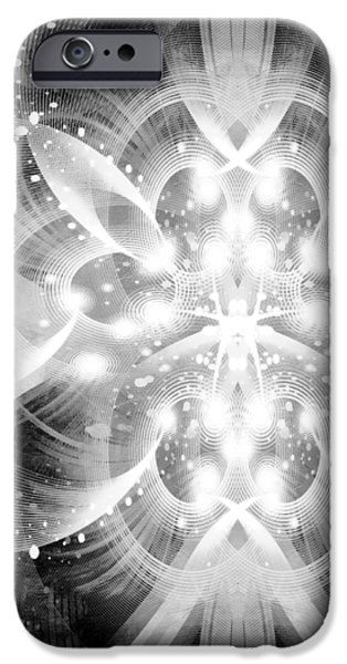 Intelligent Design BW 2 iPhone Case by Angelina Vick