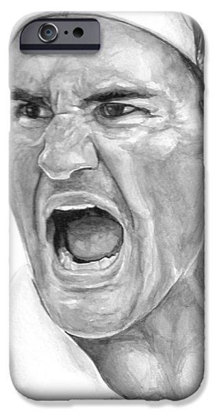 Intensity Federer iPhone Case by Tamir Barkan