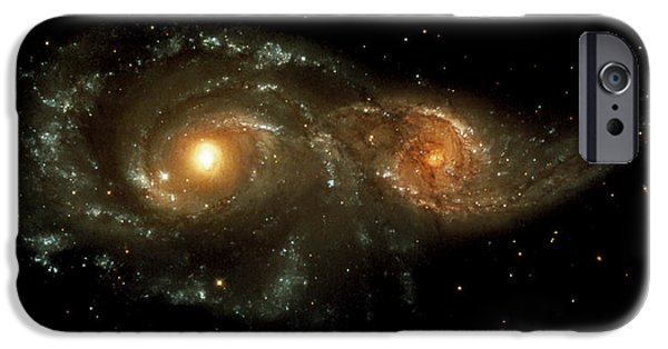 Astrophysics iPhone Cases - Interacting Galaxies iPhone Case by Nasaesastscihubble Heritage Team