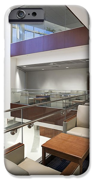 Colour Image iPhone Cases - Interior Of A Moden Hospital Building iPhone Case by Christian Scully