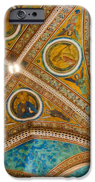 Interior St Francis Basilica Assisi Italy iPhone Case by Jon Berghoff
