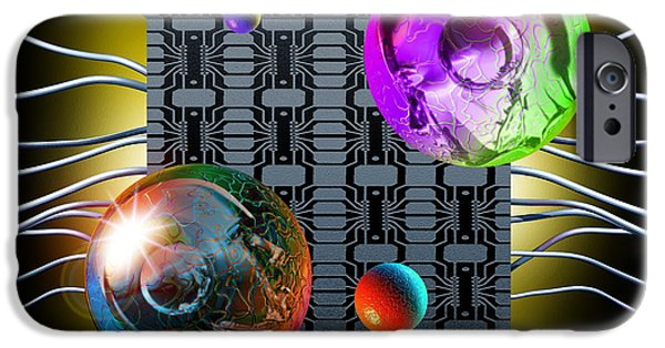 Cyberspace iPhone Cases - Internet Chat Rooms iPhone Case by Victor Habbick Visions