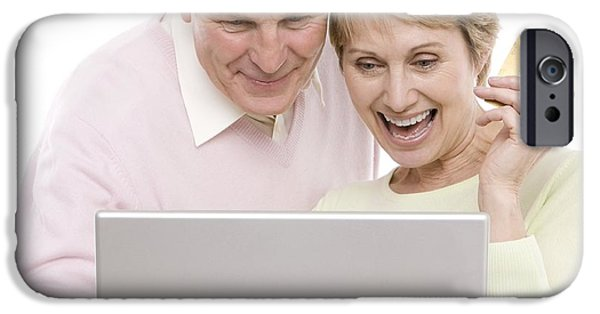 Senior Men iPhone Cases - Internet Shopping iPhone Case by