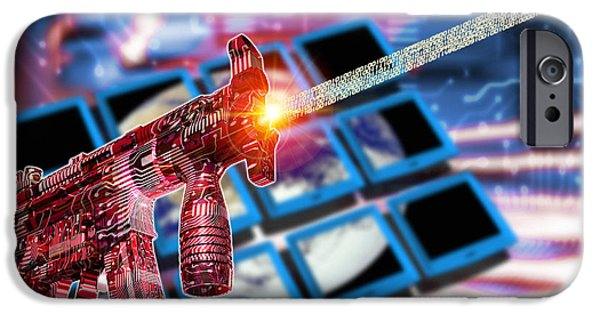 Terrorism iPhone Cases - Internet Terrorism iPhone Case by Victor Habbick Visions