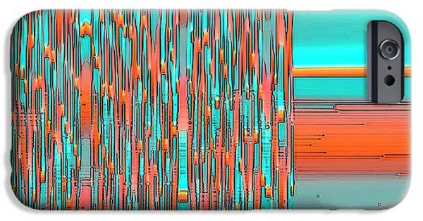 Ben Gertsberg Digital Art iPhone Cases - Interplay Of Warm And Cool iPhone Case by Ben and Raisa Gertsberg