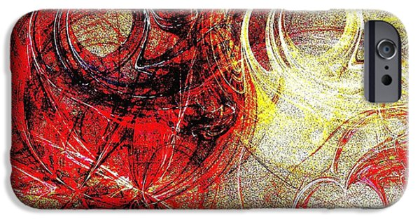 Bonding Mixed Media iPhone Cases - Intertwining Hearts-RG iPhone Case by Maria Urso