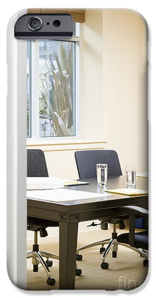 Interview Room iPhone Case by Andersen Ross