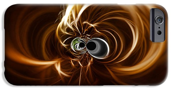 Abstract Digital Photographs iPhone Cases - Into the Abyss iPhone Case by Cheryl Young