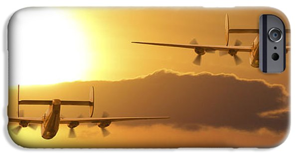 Warbird iPhone Cases - Into the Sun 2 iPhone Case by Mike McGlothlen