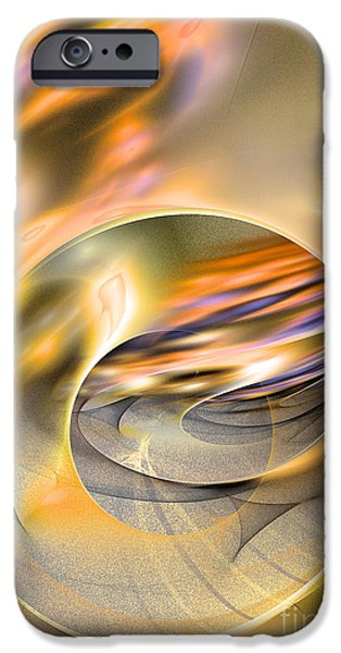 Colorful Abstract Algorithmic Contemporary iPhone Cases - Intrinsic flame iPhone Case by Sipo Liimatainen
