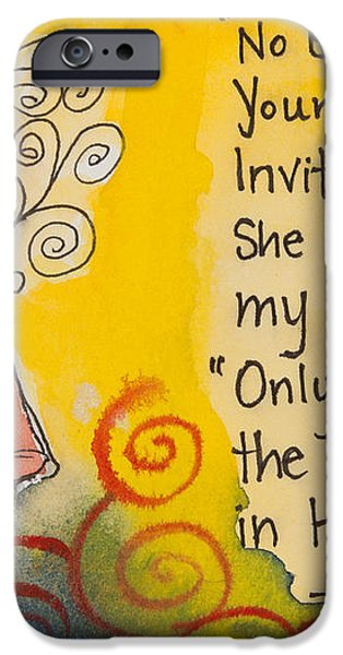 Invitation In Hand iPhone Case by Ilisa  Millermoon
