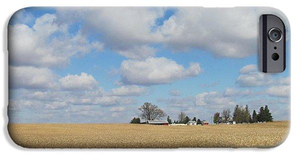Field. Cloud iPhone Cases - Iowa 3 iPhone Case by Anita Burgermeister